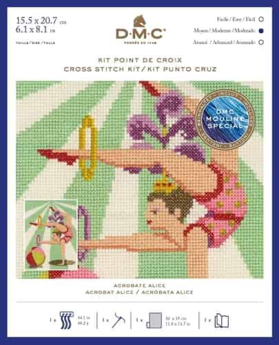 DMC Cross Stitch Kit - Vintage Circus - Acrobat Alice