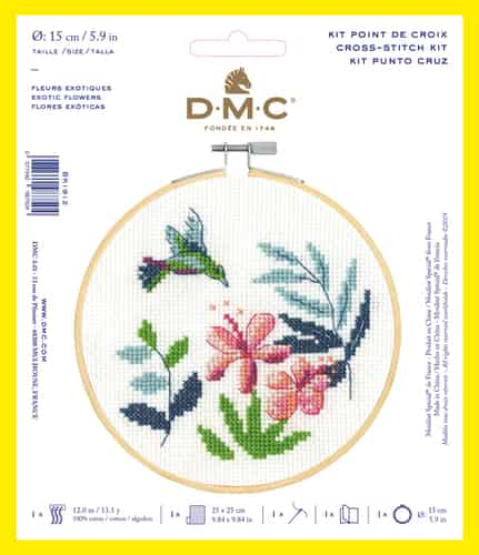 DMC Cross Stitch Kit - Exotic Flowers BK1912