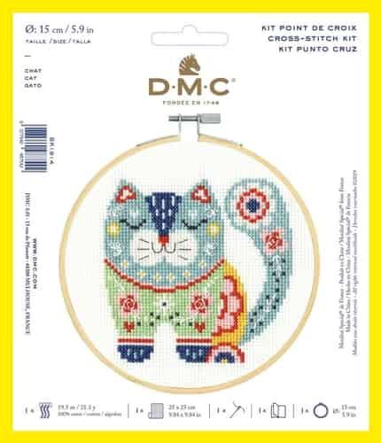 DMC Cross Stitch Kit - Cat BK1914