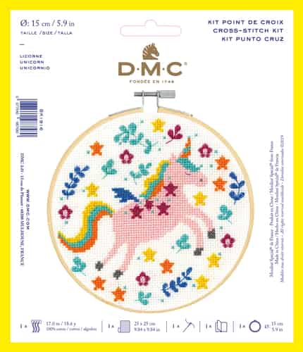 DMC Cross Stitch Kit - Unicorn BK1916