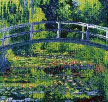 DMC Cross Stitch Kit National Gallery - Monet - The Water Lily Pond BL1111/71