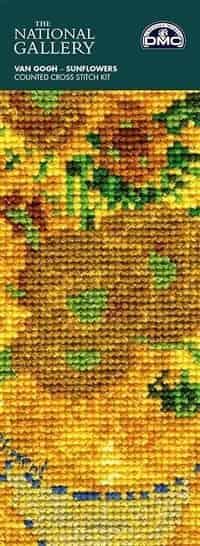 DMC Cross Stitch Kit - Sunflowers Bookmark, Van Gogh BL1116/71