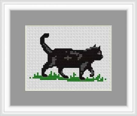 Luca S Cross Stitch Kit - Black Cat