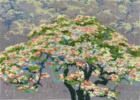 DMC Cross Stitch Kit - British Museum - A Tree in Blossom BL1149/73