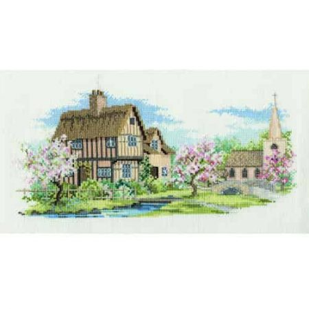 Derwentwater Designs Cross Stitch Kit - The Lanes Series - Blossom Lane