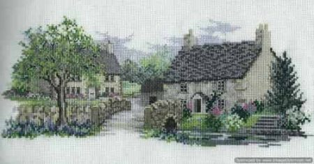Derwentwater Designs Cross Stitch Kit - Bluebell Lane, Village