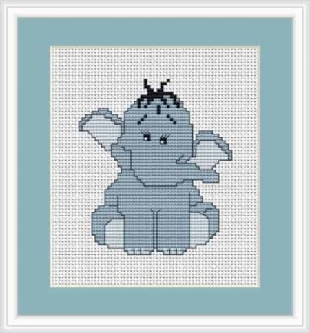 Luca S Cross Stitch Kit - Blue Elephant