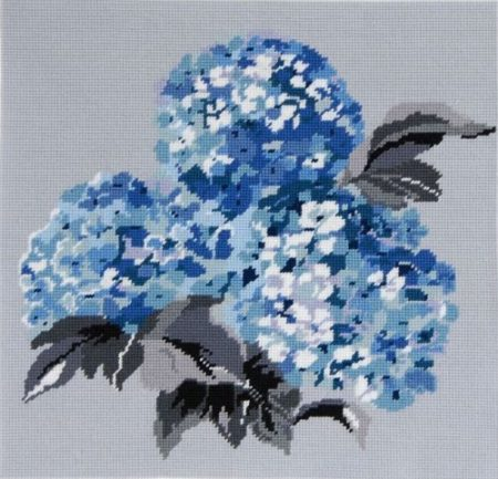 DMC Preprinted Canvas Tapestry - Blue Hydrangeas