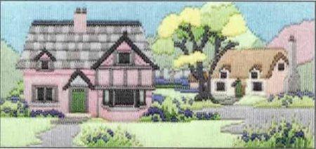 Derwentwater Designs Long Stitch Kit - Lanes Series - Bluebell Wood Lane