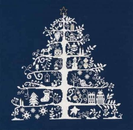 DMC Cross Stitch Kit - Christmas Tree in Navy