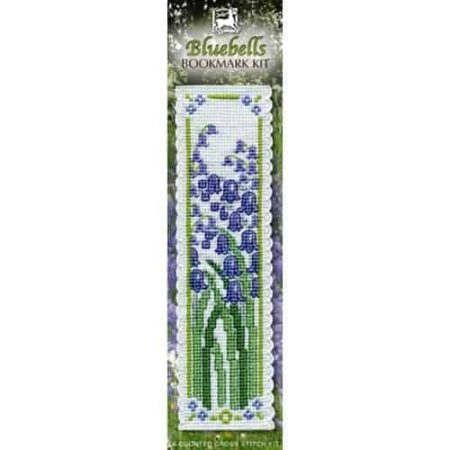Textile Heritage Cross Stitch Kit - Bookmark - Bluebells - Made in Scotland