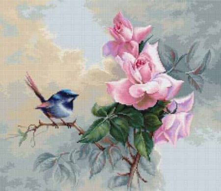 Luca S Cross Stitch Kit - Birdie, Bluebird B2313
