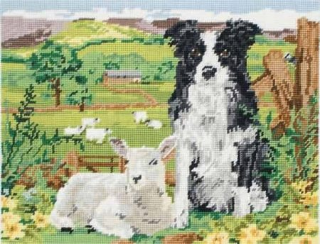 Anchor Needlepoint Tapestry Kit - Border Collie and Lamb MR7004