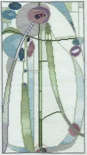 Derwentwater Designs Cross Stitch Kit - Rose Boudoir, Mackintosh
