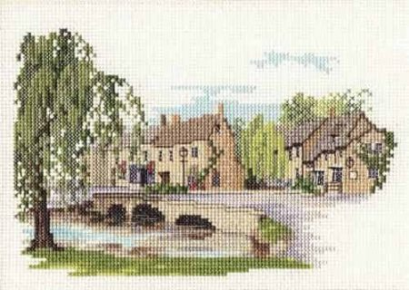 Derwentwater Designs Cross Stitch Kit - Bourton on the Water, Village