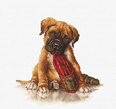 Luca-S Cross Stitch Kit - The Boxer B2338