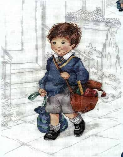 Janlynn Cross Stitch Kit - School Boy