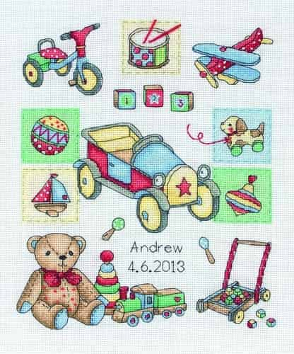 Anchor Cross Stitch Kit - Boy Birth ACS39