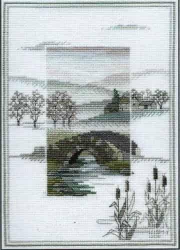 Derwentwater Designs Cross Stitch Kit - Misty Mornings - Winter Bridge