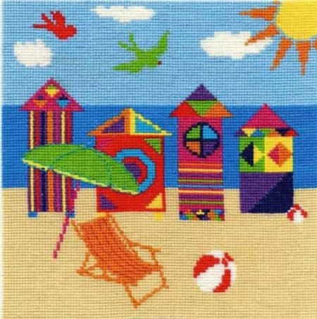 DMC Cross Stitch Kit - Bright Beach Huts BK1555