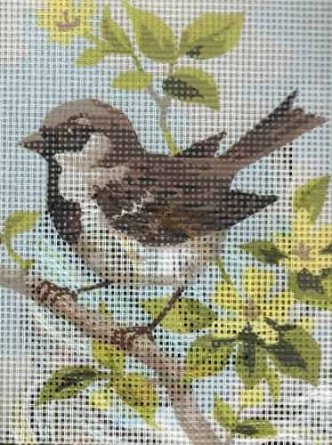 Grafitec Needlepoint Tapestry Kit - Brown Wren