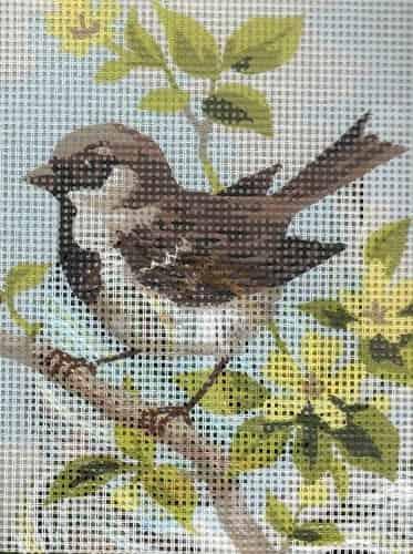 Grafitec Needlepoint Tapestry Kit - Brown Wren