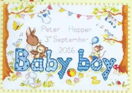 Bothy Threads Cross Stitch Kit - Bunny Love Boy XKG3