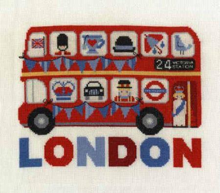 DMC Cross Stitch Kit - London Bus BK1648