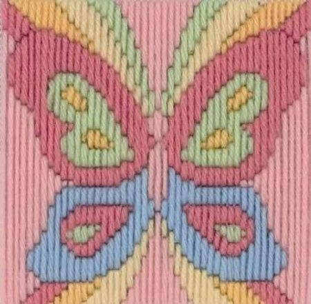 Anchor 1st Kit Beginners Long Stitch Kit - Beth Butterfly 30007