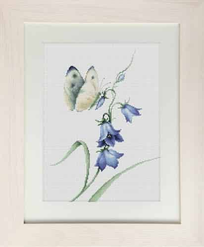 Luca S Cross Stitch Kit - Summer Delight (Butterfly and flower).