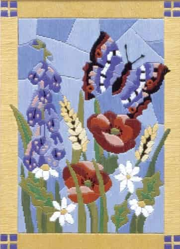 Anchor Long Stitch Kit - Stained Glass Butterfly AL77516
