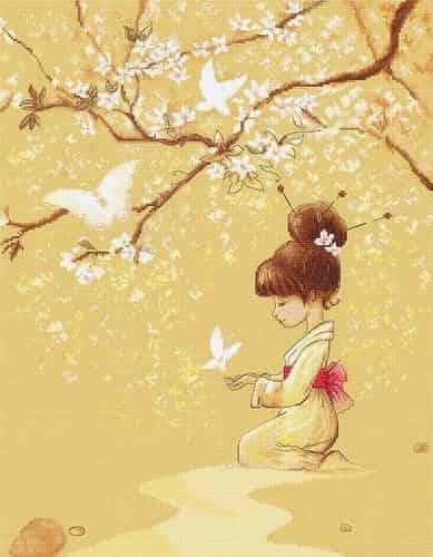 Luca S Cross Stitch Kit - The Butterflies, Girl B1145