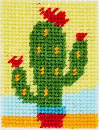 DMC Printed Canvas Tapestry Kit - Cactus- Suitable for Beginners