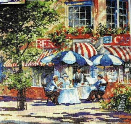 Design Works Cross Stitch Kit - Cafe in the Sun