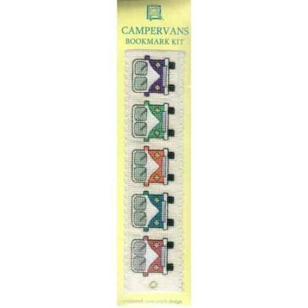 Textile Heritage Cross Stitch Kit - Bookmark - Camper Vans - Made in Scotland