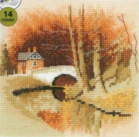 Heritage Crafts Cross Stitch Kit - By The Canal