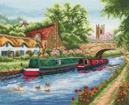 Anchor Cross Stitch Kit - Waterways, Canal PCE891