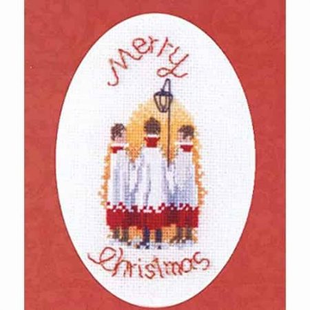 Derwentwater Designs Cross Stitch Kit - Christmas Card, Carol Singers