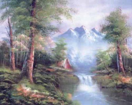 Grafitec Printed Tapestry Needlepoint Canvas - Mountain Cascades