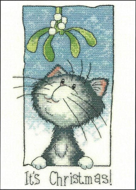 Heritage Crafts Cross Stitch Kit - Cats Rule, It's Christmas