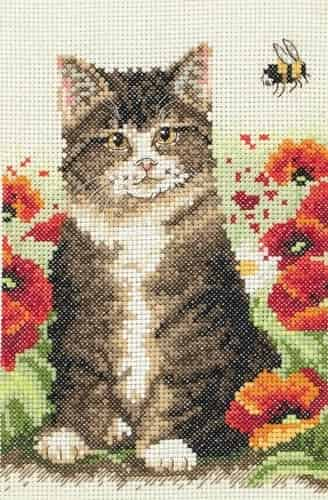 Anchor Cross Stitch Kit - Cat and Bee AK120