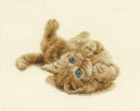 DMC Cross Stitch Kit - Kitten Playing, Cat BK904