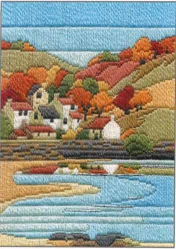 Derwentwater Designs Long Stitch Kit - Seasons, Coastal Autumn