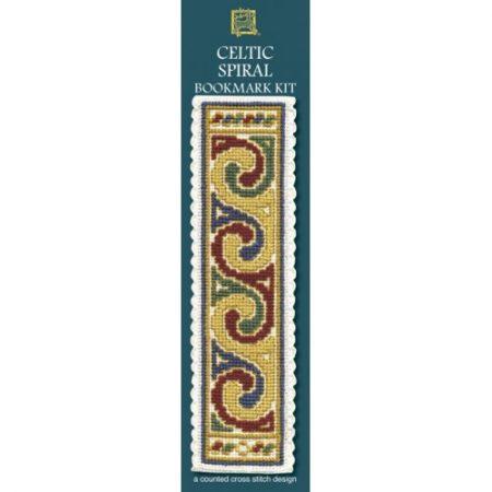 Textile Heritage Cross Stitch Kit - Bookmark - Celtic Spiral Cream - Made in Scotland