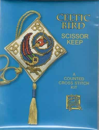 Textile Heritage Cross Stitch Kit - Scissor Keep - Celtic Bird