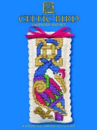 Textile Heritage Cross Stitch Kit - Lavender Sachet - Celtic Bird