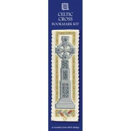 Textile Heritage Cross Stitch Kit - Bookmark - Celtic Cross - Made in Scotland