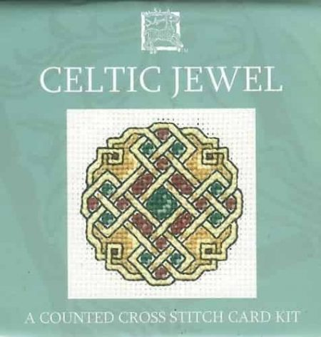Textile Heritage Cross Stitch Kit - Card - Celtic Jewel - Made in Scotland