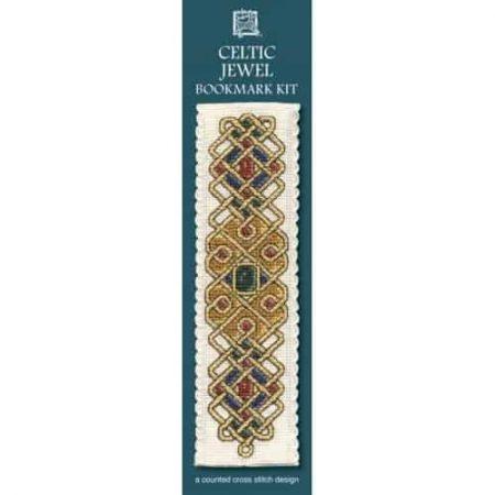 Textile Heritage Cross Stitch Kit - Bookmark - Celtic Jewel - Made in Scotland