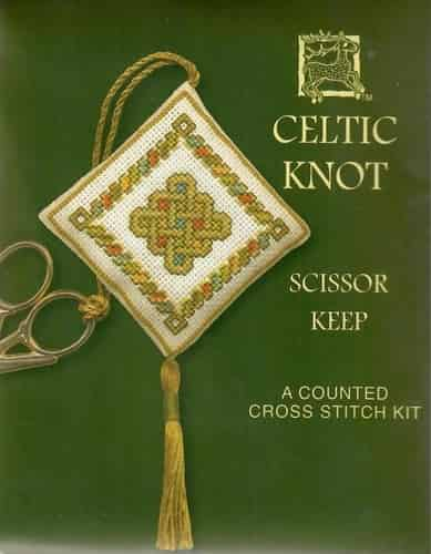 Textile Heritage Cross Stitch Kit - Scissor Keep - Celtic Knot